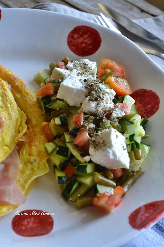 Omelette con Ripieno di Stracchino e Proscoutto Cotto