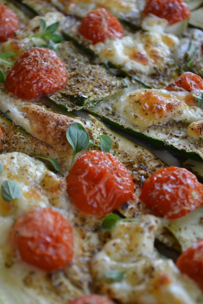 Pizza sfogliata alla zucchina e burrata