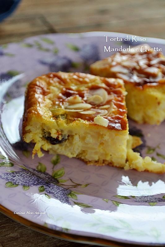 Torta di Riso con Mandorle e Uvette