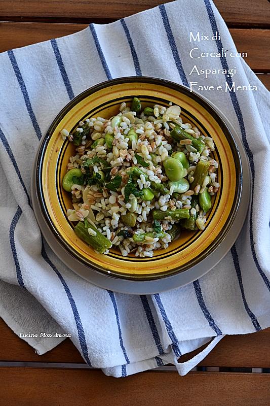 Mix di Cereali con Asparagi e fave