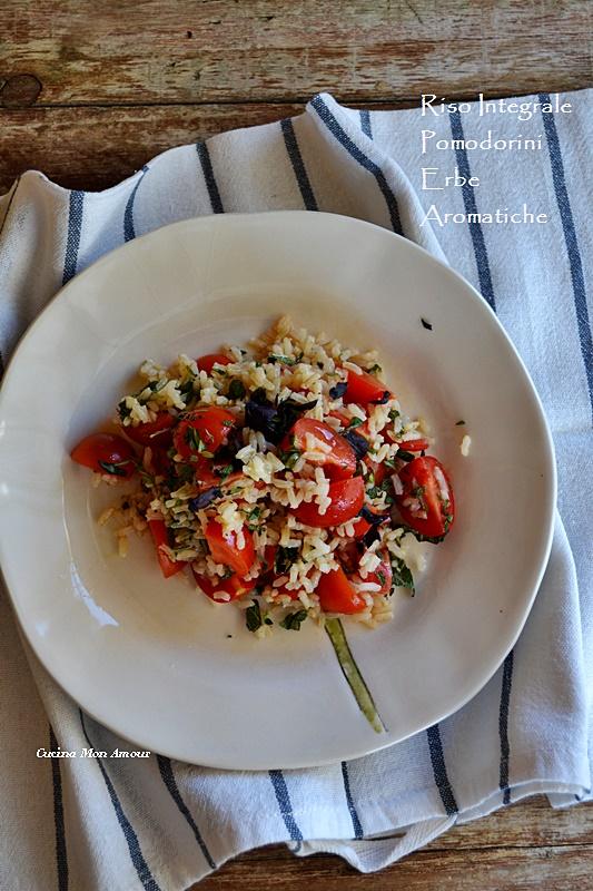 Riso integrale pomodorini e erbe aromatiche