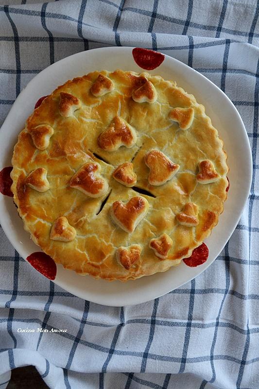 Crostata Salata con Cuore di Palma
