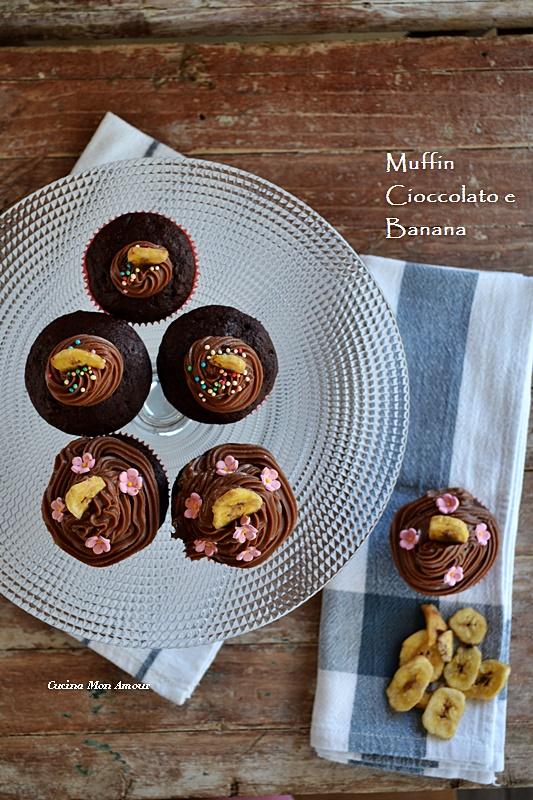 Muffin banana e cacao