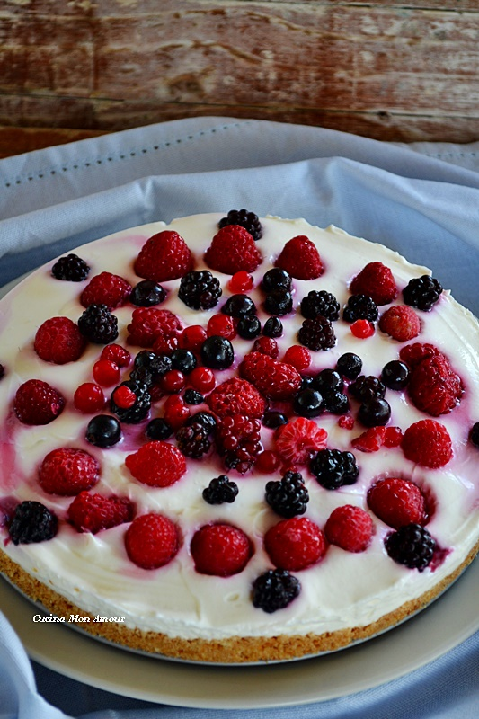 Cheesecake ai frutti di bosco