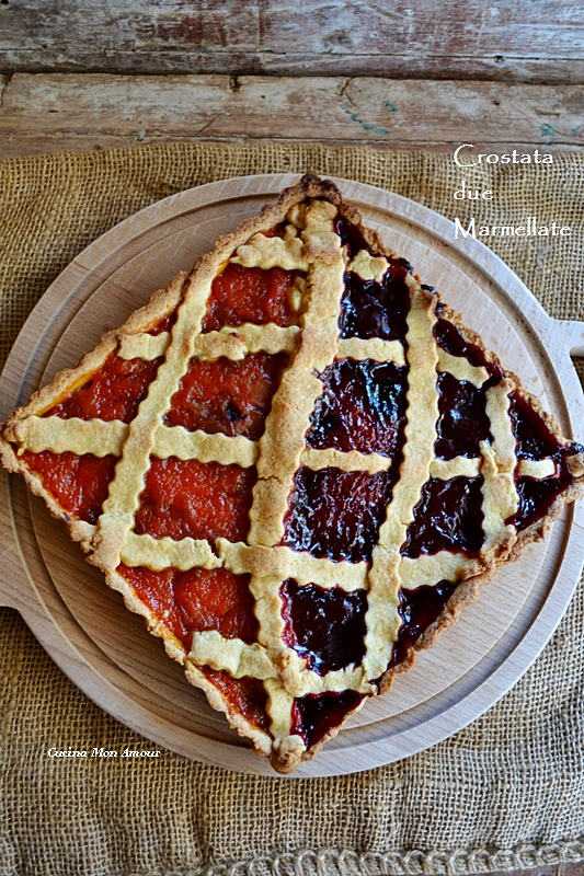 Crostata due marmellate